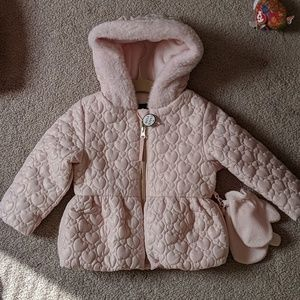 NWT sparkle heart quilted jacket